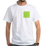 Dutch Gold And Yellow Design White T-Shirt