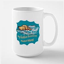 golden Retriever waves Mug