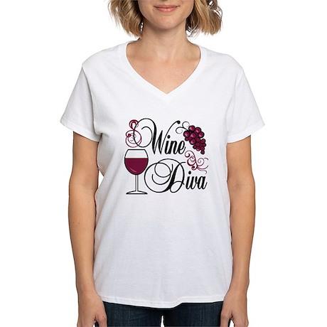 Wine Diva Women's V-Neck T-Shirt
