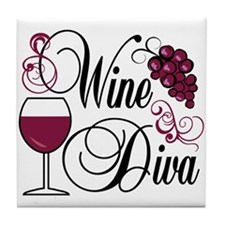 Wine Diva Tile Coaster