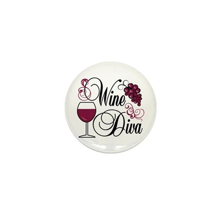 Wine Diva Mini Button (10 pack)
