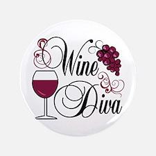 """Wine Diva 3.5"""" Button"""