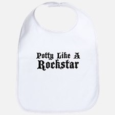 Potty Like A Rockstar Bib