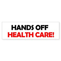 Hands Off Health Care Bumper Sticker (50 pk)