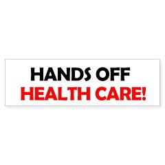 Hands Off Health Care Bumper Sticker (10 pk)