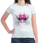 Wine Girl Heart Jr. Ringer T-Shirt