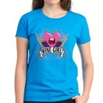 Wine Girl Heart Women's Dark T-Shirt