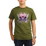 Wine Girl Heart Organic Men's T-Shirt (dark)