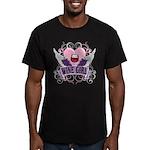 Wine Girl Heart Men's Fitted T-Shirt (dark)