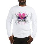 Wine Girl Heart Long Sleeve T-Shirt