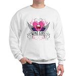 Wine Girl Heart Sweatshirt