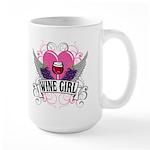 Wine Girl Heart Large Mug