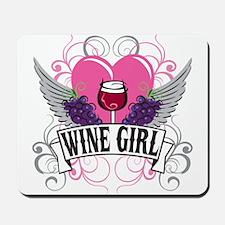 Wine Girl Heart Mousepad