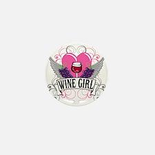 Wine Girl Heart Mini Button (10 pack)