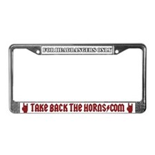 Take Back The Horns License Plate Frame