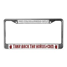 Take Back The Horns License Plate Frame