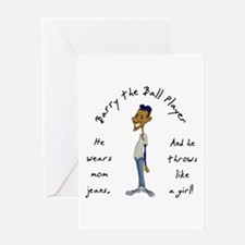 Barry the Ball Player Greeting Card
