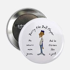 """Barry the Ball Player 2.25"""" Button"""