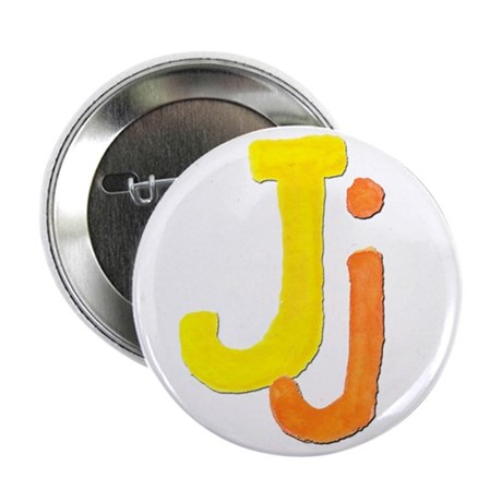 """J is for Jazzy 2.25"""" Button"""