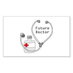 Future Doctor Rectangle Sticker 10 pk)