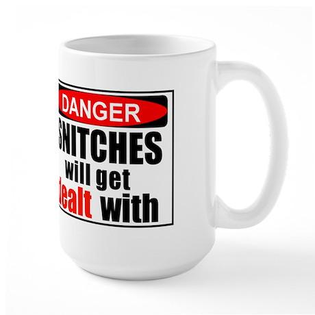 Stop snitchin' Large Mug