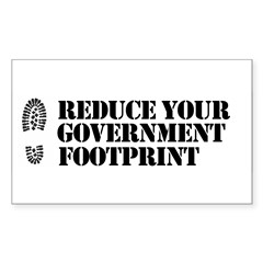Reduce your government footpr Rectangle Decal
