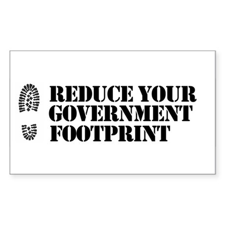 Reduce your government footpr Rectangle Sticker