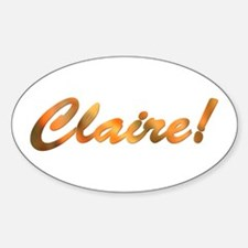 Claire! Design #814 Oval Decal