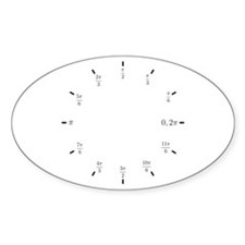 Trigonometry (Radians) Oval Decal
