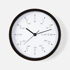 Trigonometry (Rad/Deg) Wall Clock