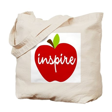 Inspire Apple Tote Bag