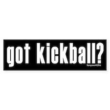 got kickball? Bumper Sticker (10 pk)