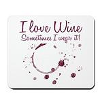 I Love Wine Mousepad