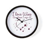 I Love Wine Wall Clock
