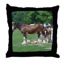 """clydesdale horses""Throw Pillow"