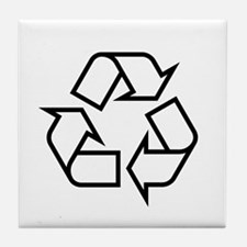 Black Recycle Tile Coaster