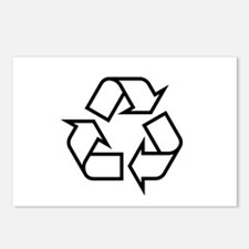 Black Recycle Postcards (Package of 8)