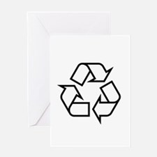 Black Recycle Greeting Card
