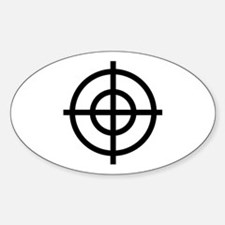 Black Sight Oval Decal