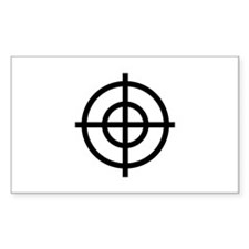 Black Sight Rectangle Decal