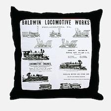 The Baldwin Locomotive Works Throw Pillow
