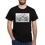 Shortface Tumbler Pigeons Black T-Shirt