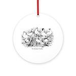 Shortface Tumbler Pigeons Ornament (Round)