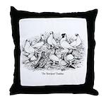 Shortface Tumbler Pigeons Throw Pillow