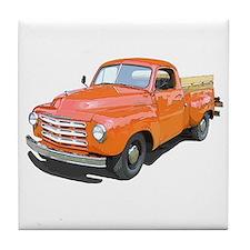 Cool Truck farming Tile Coaster
