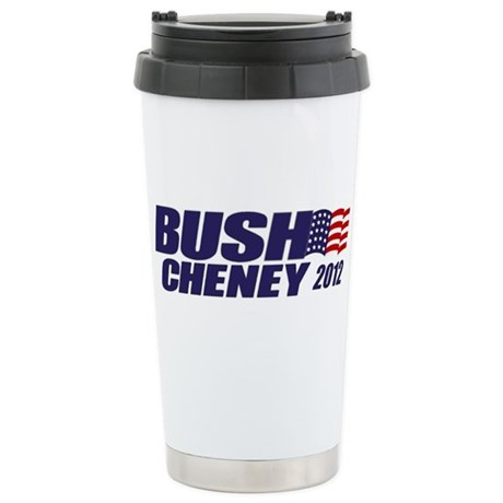 Bush Cheney Stainless Steel Travel Mug