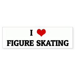 I Love FIGURE SKATING Bumper Bumper Sticker