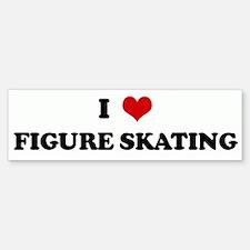 I Love FIGURE SKATING Bumper Bumper Bumper Sticker