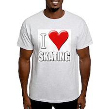 I Love (Heart) Skating Ash Grey T-Shirt