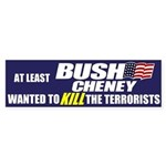Bush Cheney Bumper Sticker